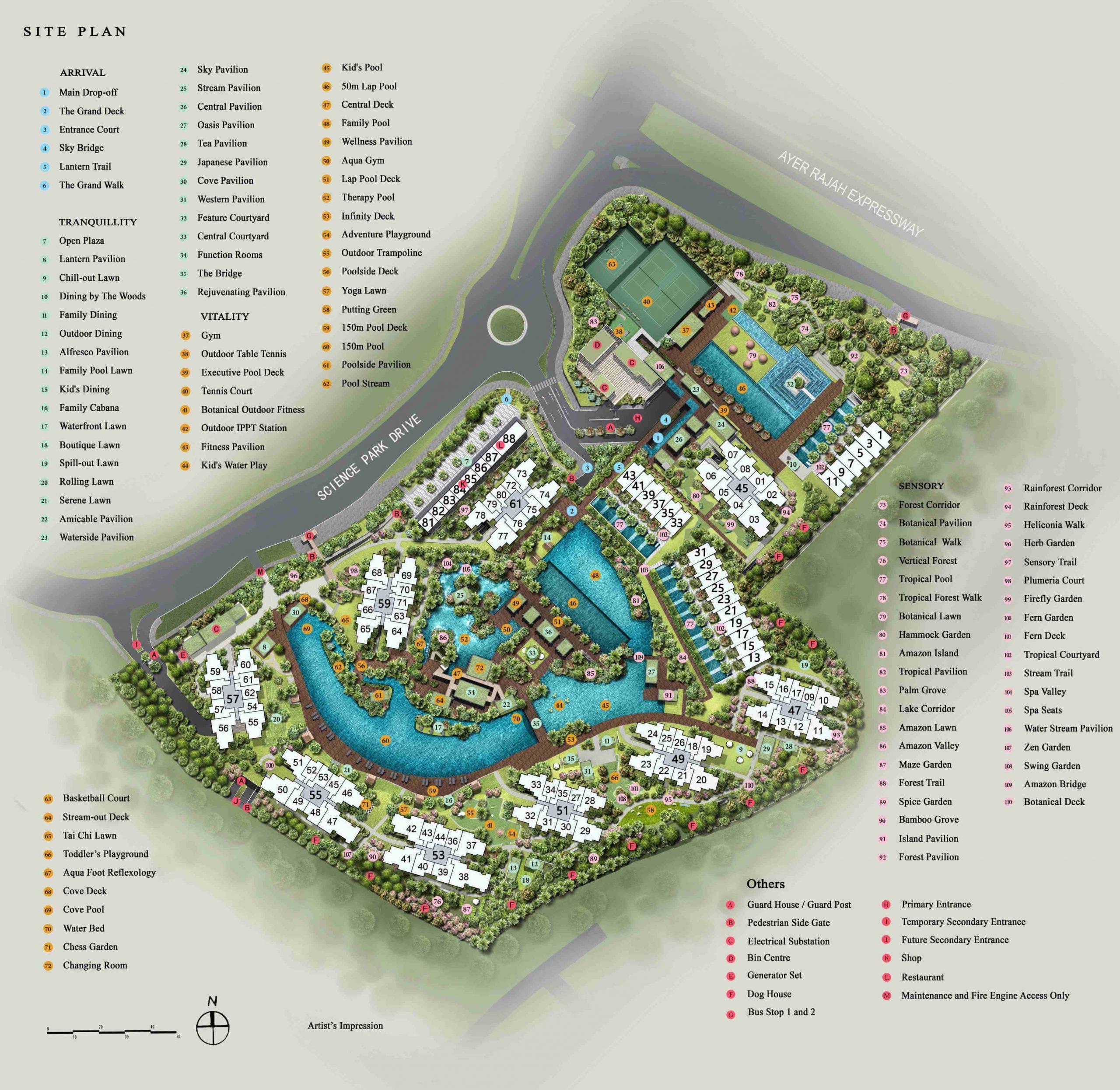 Normanton Park - Site Plan with legend